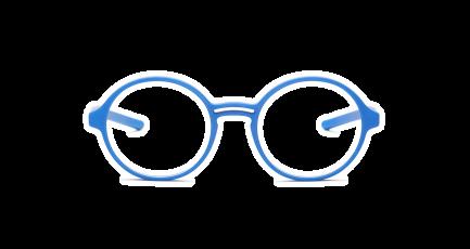VOYOU eyewear - Gautama - 3D gedruckte Brille - rund - Doppelsteg - Damen & Herren - Unisex   3D printed glasses - round - double bridge - Ladies & Men   Lunettes imprimées en 3D - ronde - double pont - Femme & Homme